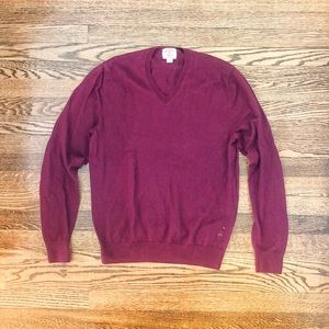 Brooke Brothers maroon v neck Sweater